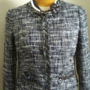 J Crew Tweed Boucle Jacket